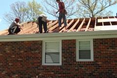 Beginning of Roof installation process