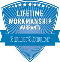 gutter shutter lifetime workmanship warranty