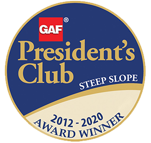 gaf president club roofing winner