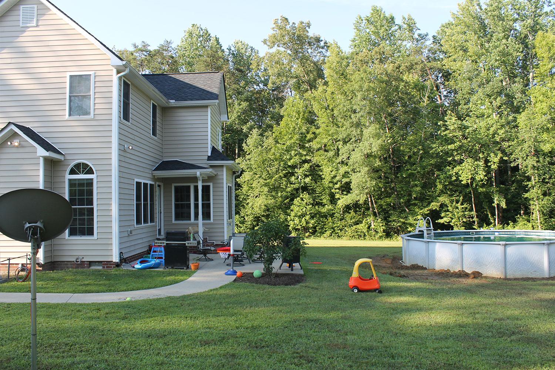 backyard home improvement before image